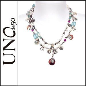NWOT ( UNOde50 ) Long Multi Beaded Necklace